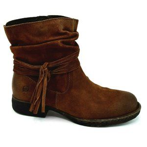Born Womens Cross Rust Ankle Boot Tobacco NEW
